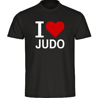 Multifanshop T Shirt Classic I Love Judo Schwarz Kinder Gr 128 Bis