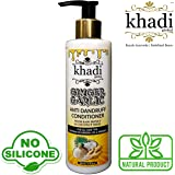 (Introductory Price) Khadi Global Ginger Garlic Anti Dandruff Conditioner with Raw Honey & Coconut Milk 200ml/6.76 fl.oz , Ultimate Solution For Dandruff and Itchy Scalp, 100% Natural Anti-Fungal & Anti Bacterial Formula