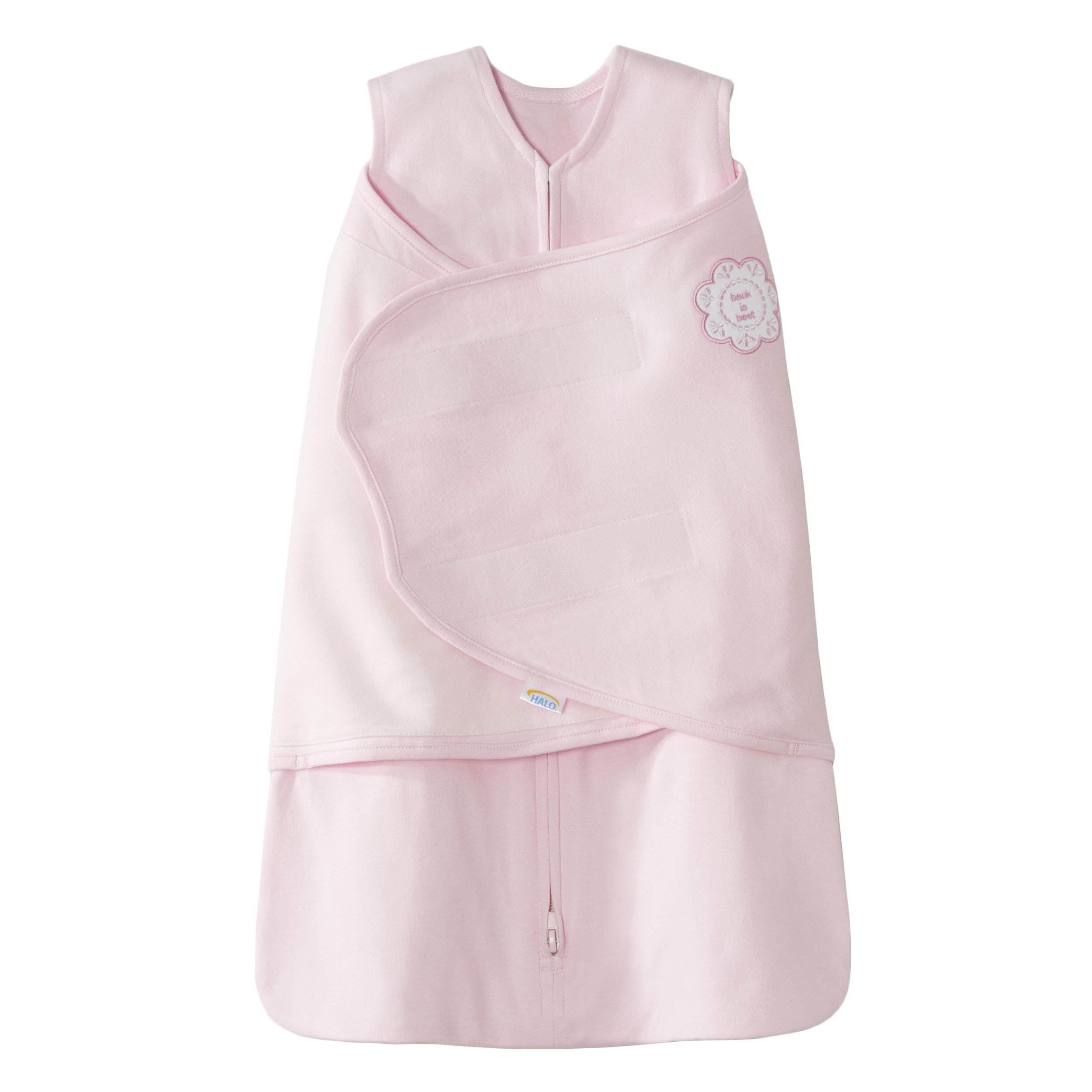 HALO SleepSack 100% Cotton Swaddle and Wearable Blanket Gift Set, Pink Lacy Flower, 2 Piece, Newborn/Small