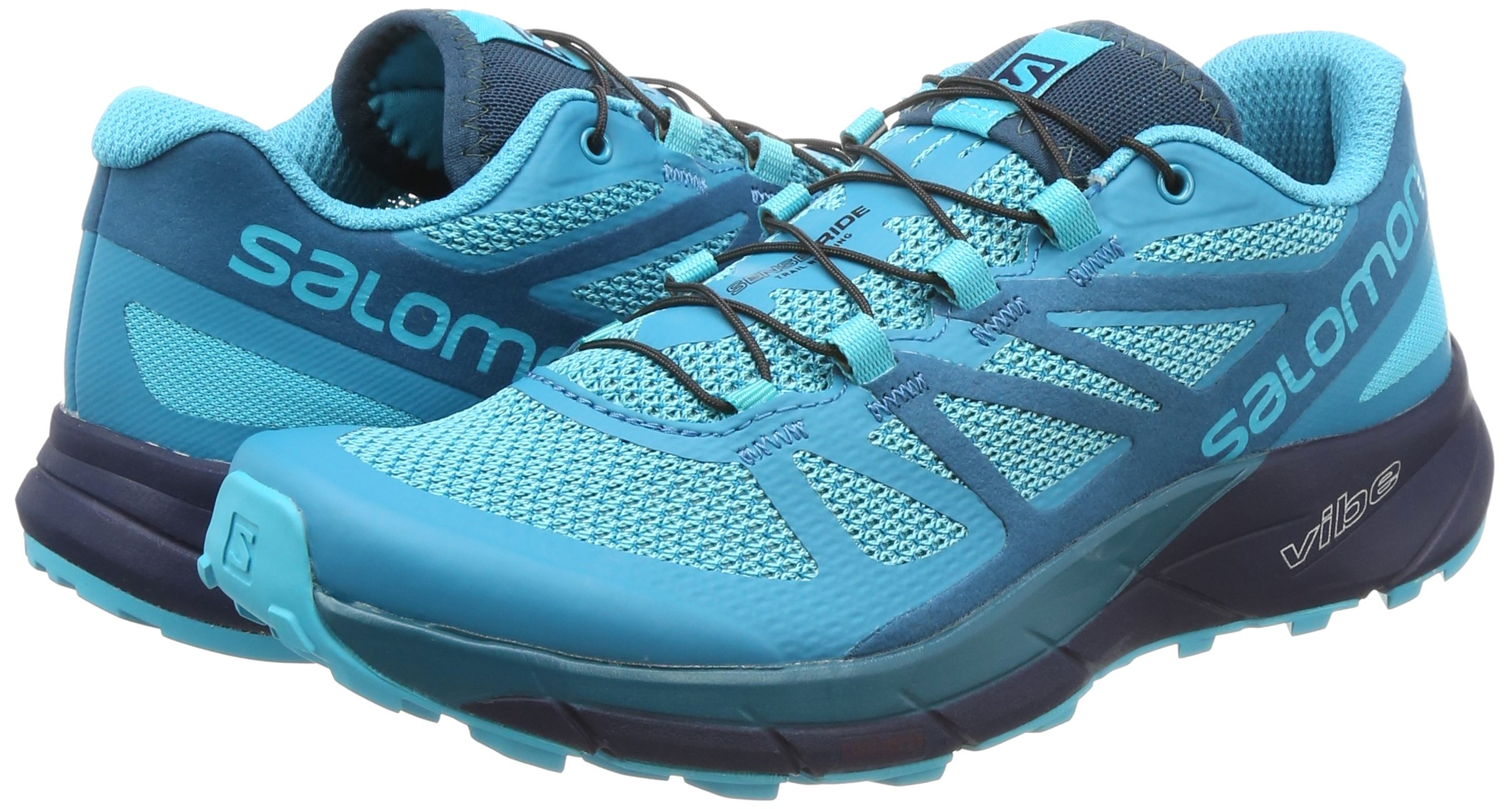 Salomon Sense Ride Running Shoe - Women's Blue Bird/Deep Lagoon/Navy Blazer 7 by Salomon (Image #5)