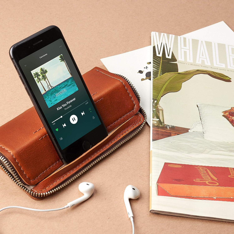 best website 71d8d e5a3c Amazon.com: Capra Leather iPhone Case Wallet for Men, Tan iPhone 7 ...