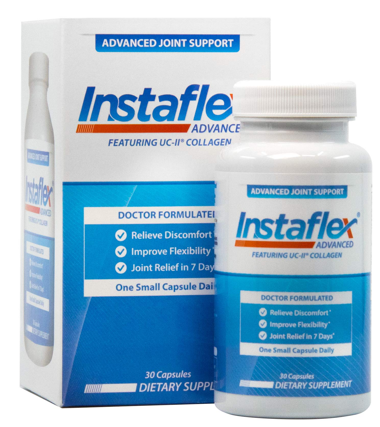 Instaflex Advanced Joint Support - Doctor Formulated Joint Relief Supplement, Featuring UC-II Collagen & 5 Other Joint Discomfort Fighting Ingredients - 30 Count by Instaflex