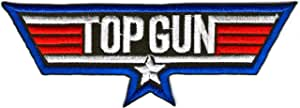 Top Gun Logo Sign Symbol Embroidered Iron on Patch Iron-on Symbol Top Gun Logo