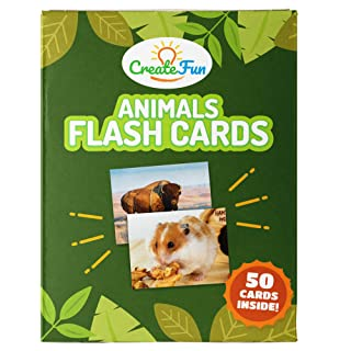 Animal Flash Cards for Toddlers, Preschool and Kindergarten | 50 Educational First Words Photo Cards | 4 Learning Games | For Parents, Teachers, Speech Therapy Materials and ESL Teaching Materials
