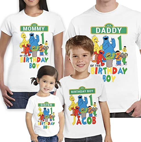 Amazon Sesame Street Birthday Shirt With Name And Age Handmade
