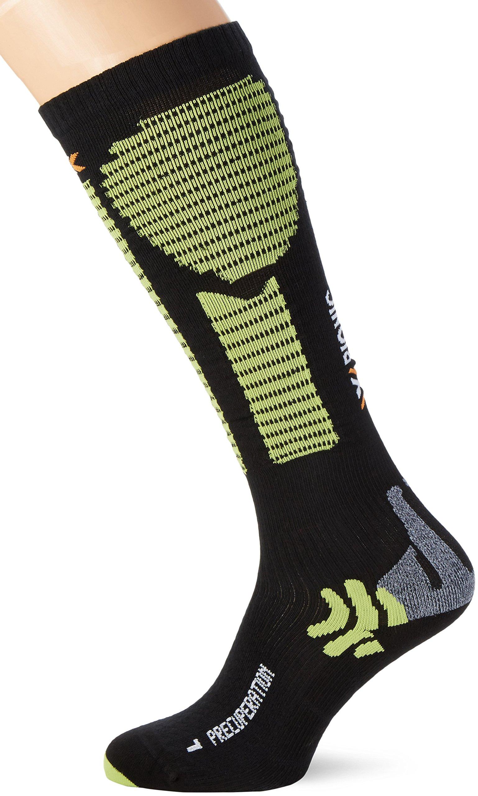 X-Socks precuperation respirantes Multicolore Black/Acid Green 43/46 M