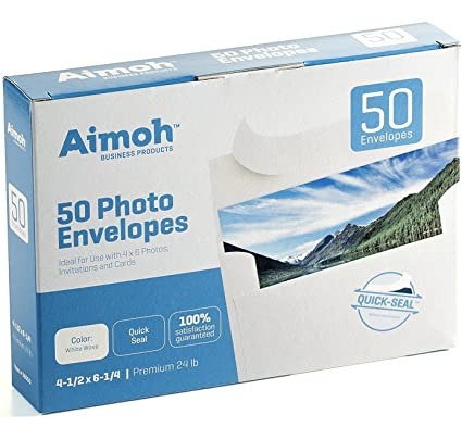 bb62c15931e3 Amazon.com   50 White A4 4x6 Photo SELF SEAL Envelopes - Fits 4 x 6 ...