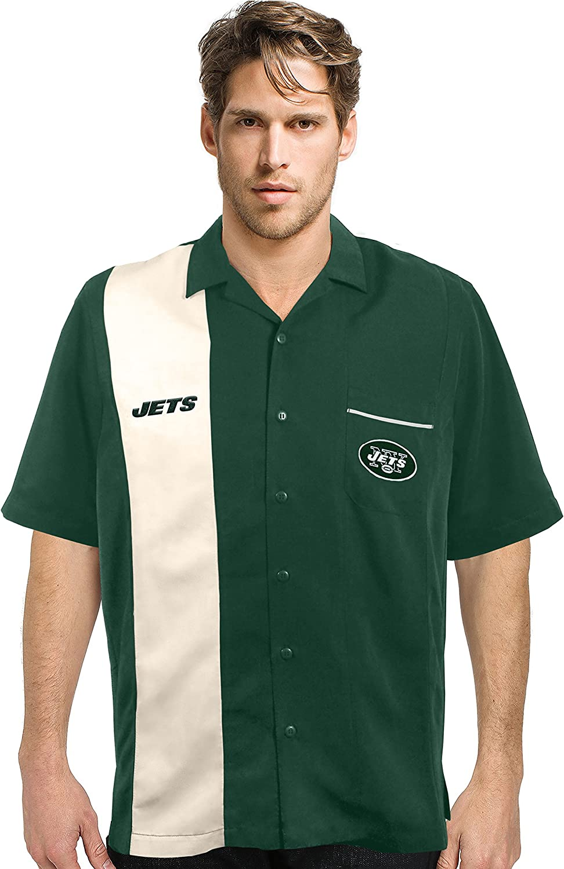 NFL New York Jets Strike Bowling Shirt Large