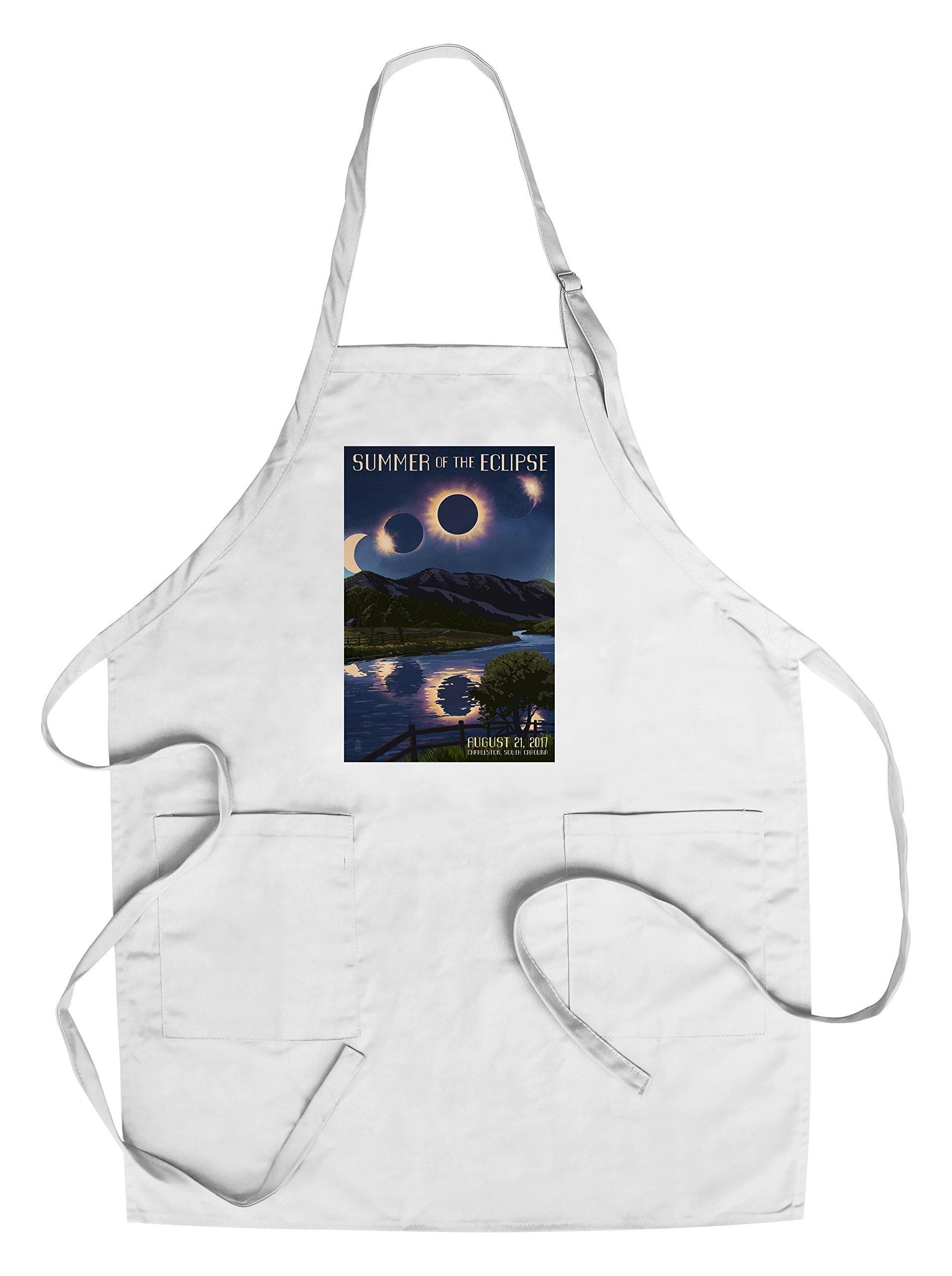Charleston, South Carolina - Solar Eclipse 2017 - Summer of the Eclipse (Cotton/Polyester Chef's Apron)