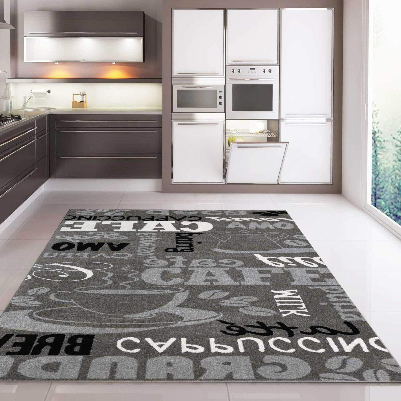 VIMODA VIMODA VIMODA Coffee Design Teppich, Kaffee Muster in Beige ideal für die Cafe Lounge oder Küche, spiegelverkehrt - ÖKO TEX Zertifiziert, Maße 200x280 cm B01EUDIYK0 Lufer c1ac01