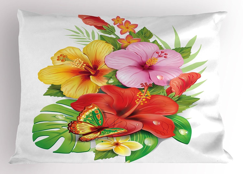 Amazoncom Ambesonne Hawaiian Pillow Sham Bouquet Of Colorful