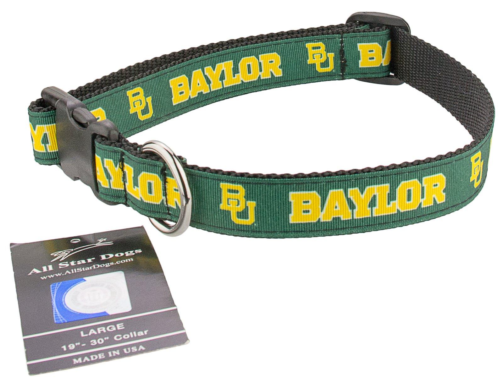 All Star Dogs Baylor Bears Ribbon Dog Collar - Extra Small