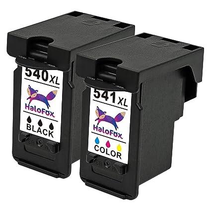 HaloFox 2 Cartuchos de Tinta PG-540XL y CL-541XL Remanufactured ...