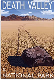 product image for Lantern Press Death Valley National Park, California - Moving Rocks 23696 (6x9 Aluminum Wall Sign, Wall Decor Ready to Hang)