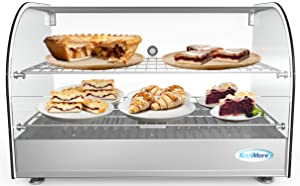"KoolMore 22"" Commercial 2 Shelf Countertop Food Warmer Display Case - 1.5. cu ft."