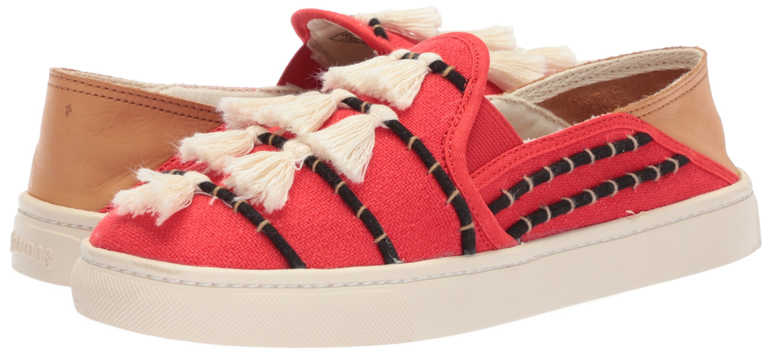 Soludos Women's Tassel Slip Sneaker, Red/Beige, 8 B US by Soludos (Image #6)