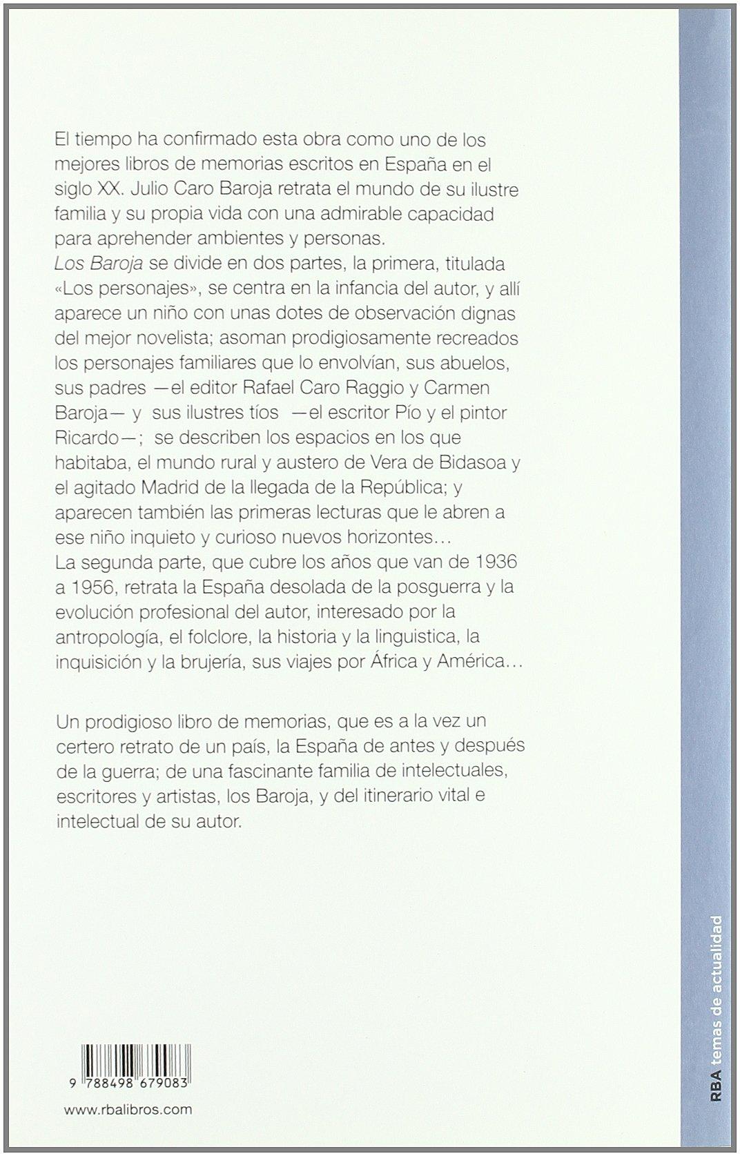 Los baroja (ENSAYO Y BIOGRAFIA): Amazon.es: Caro Baroja, Julio: Libros