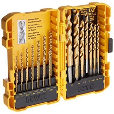 DEWALT DW1342 21Piece Titanium Speed Tip Drill Bit Set