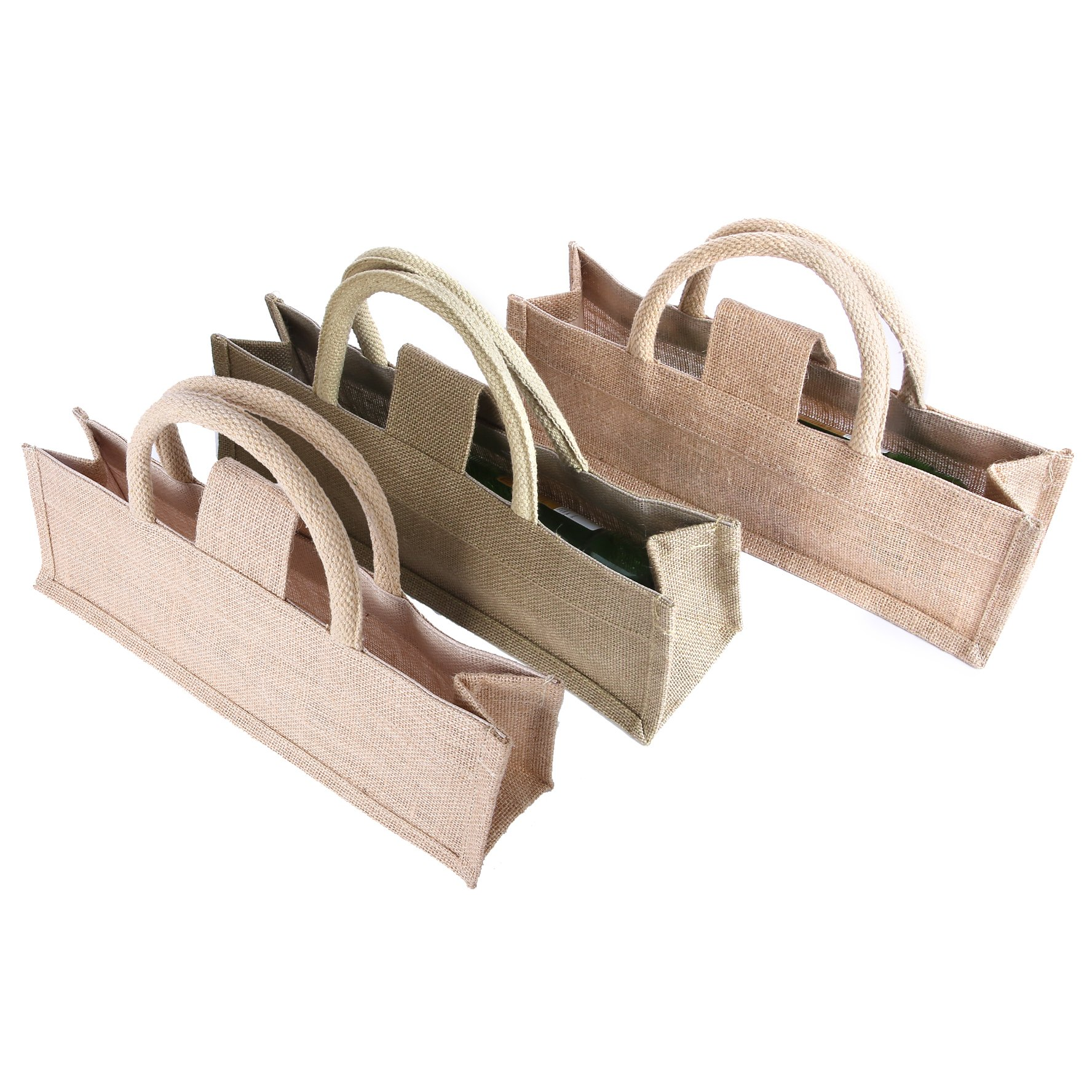 Earthbags Jute Wine Bags, Ideal for Gifting From (Pack of 3)