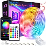40 Feet Led Strip Lights, ViLSOM Smart APP Control with Remote Music Sync Led Lights for Bedroom, Room, Ceiling, Party, Home