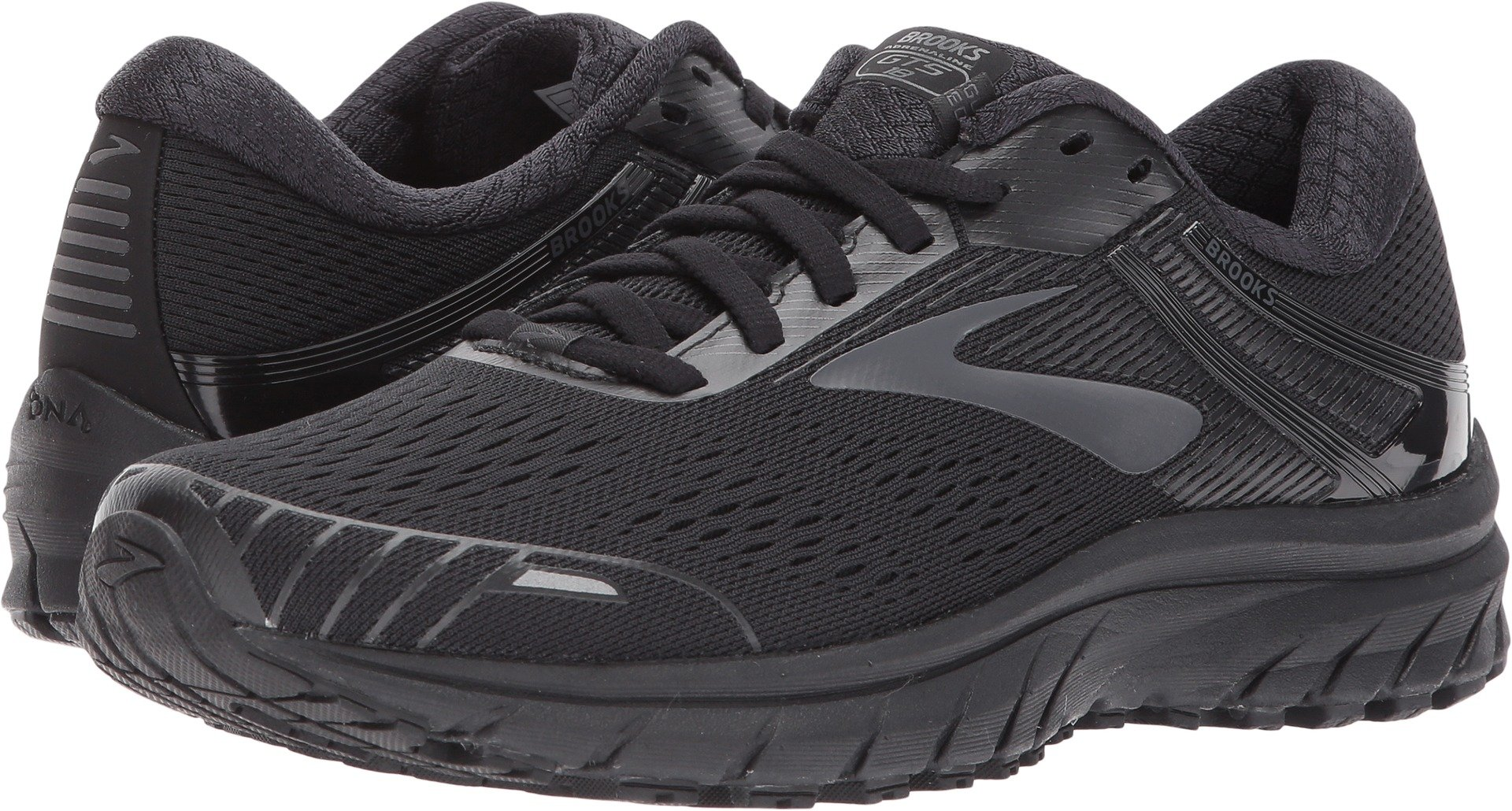 Brooks Women's Adrenaline GTS 18 Black/Black 7.5 B US by Brooks (Image #1)