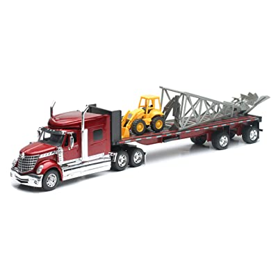 New Ray Camion 1/32 International Lone Star Moulin et Engin Collection a Escala 1/47, 810365, Rojo: Juguetes y juegos