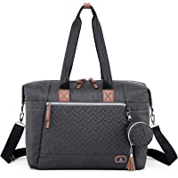 Diaper Bag Tote with Pacifier Case and Changing Pad, Dikaslon Large Travel Diaper Tote for Mom and Dad, Multifunction…