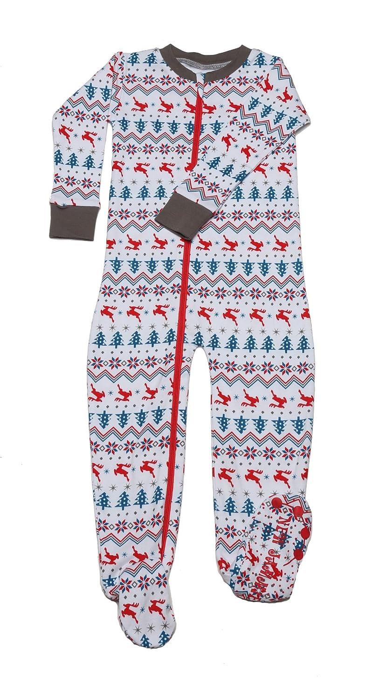 New Jammies Fair Isle Organic Cotton Footie Pajama