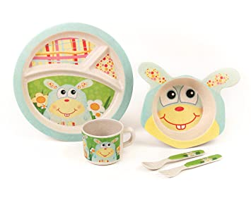 BAMBOO KIDS Meal Set | Plate Set | Toddler Dinner Set | Eco-Friendly Bamboo  sc 1 st  Amazon.com & Amazon.com : BAMBOO KIDS Meal Set | Plate Set | Toddler Dinner Set ...
