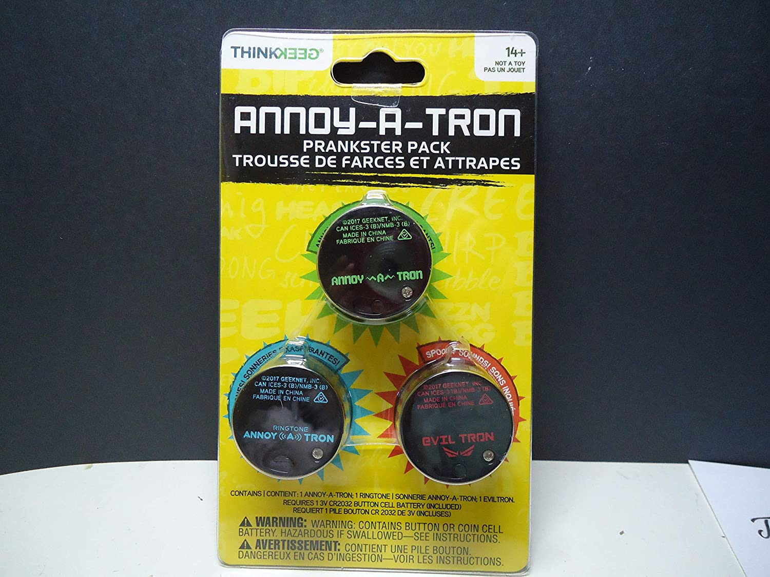 Amazon.es: ANNOY-A-TRON Prankster Pack by Think Geek Prankster Pack
