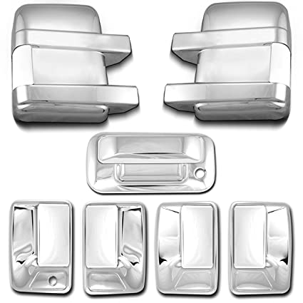 For 2008-2016 Ford F250 F350 SD Chrome Mirror Tailgate 4 Door Handle Covers WT