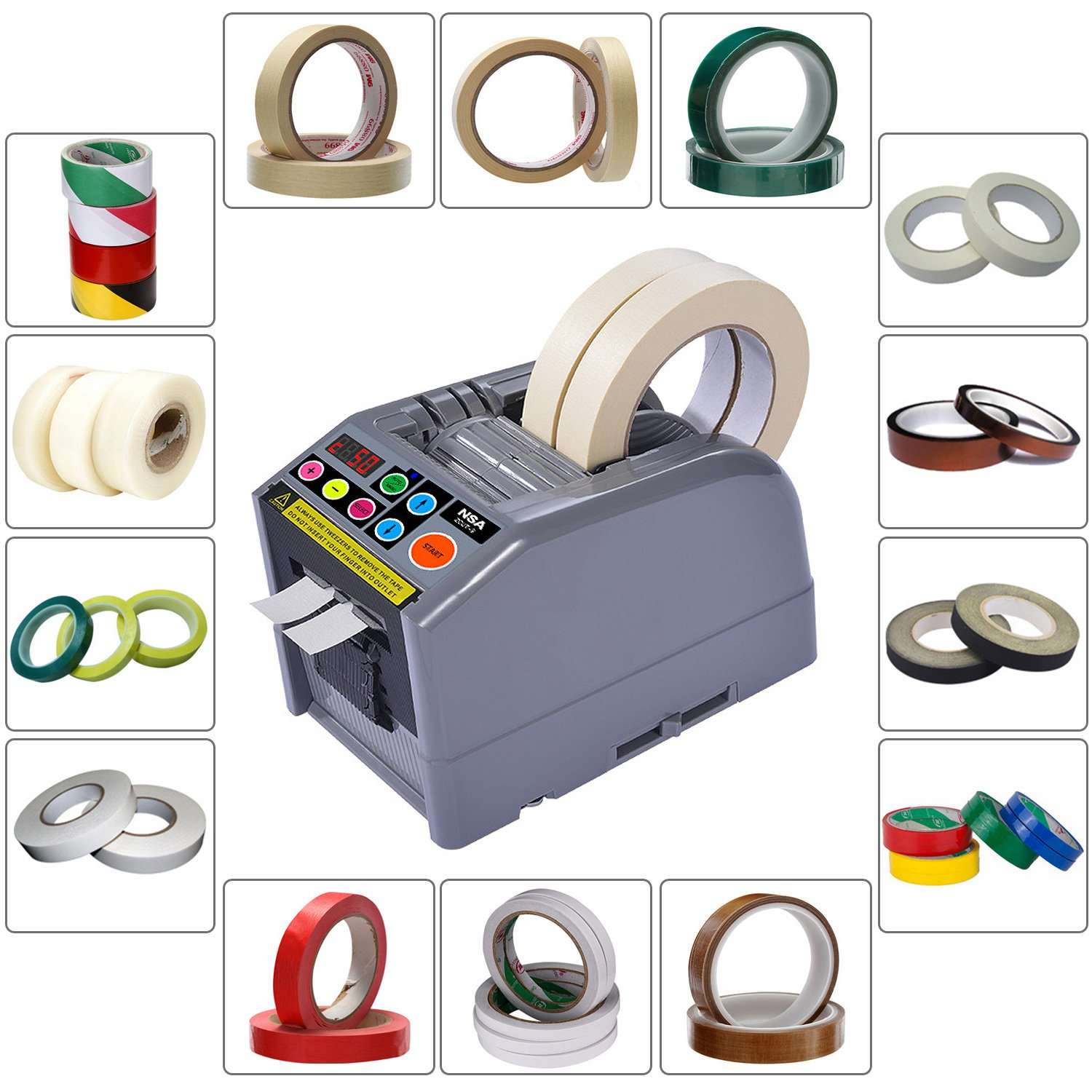 ZCUT-9 Electric Auto Definite Length Tape Dispenser Up To 39 Inch length Tape and Suit for Many Kinds Tape Cutting