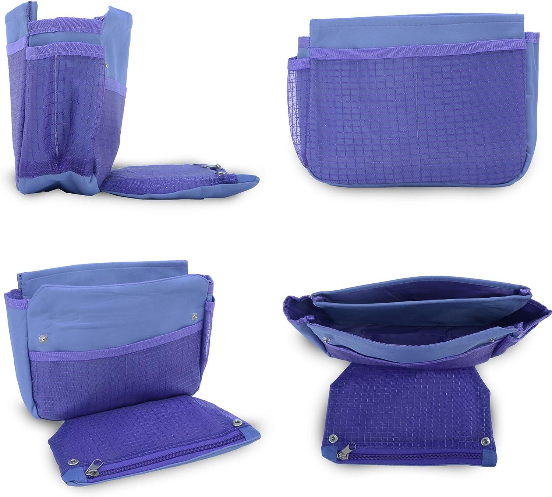 azul Light Blue Flowers Set de bolso cambiador de pa/ñales con organizador de bolsas especial 6 piezas Babyhugs