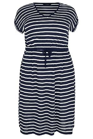 6a8ce7cb0df Women s Plus Size Stripe T-Shirt Dress with Pockets   Elasticated Waistband  Size ...