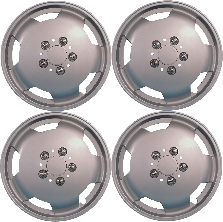 15 cm, colore: argento, per camper, furgone pesante per uso commerciale-Set di 4 coprisedili 38,10