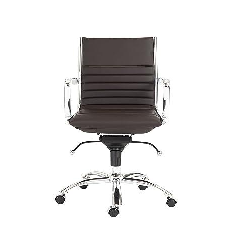 Amazon.com: Euro Estilo Dirk polipiel silla de oficina ...
