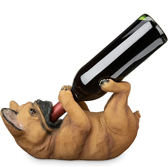 TRUE 8121 French Bulldog Wine Bottle Holder