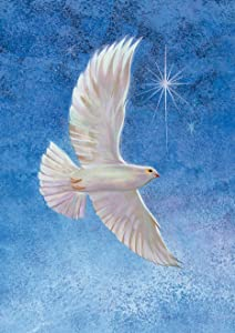 Toland Home Garden Starry Dove 12.5 x 18 Inch Decorative Winter Christmas Religious Peace Faith Garden Flag