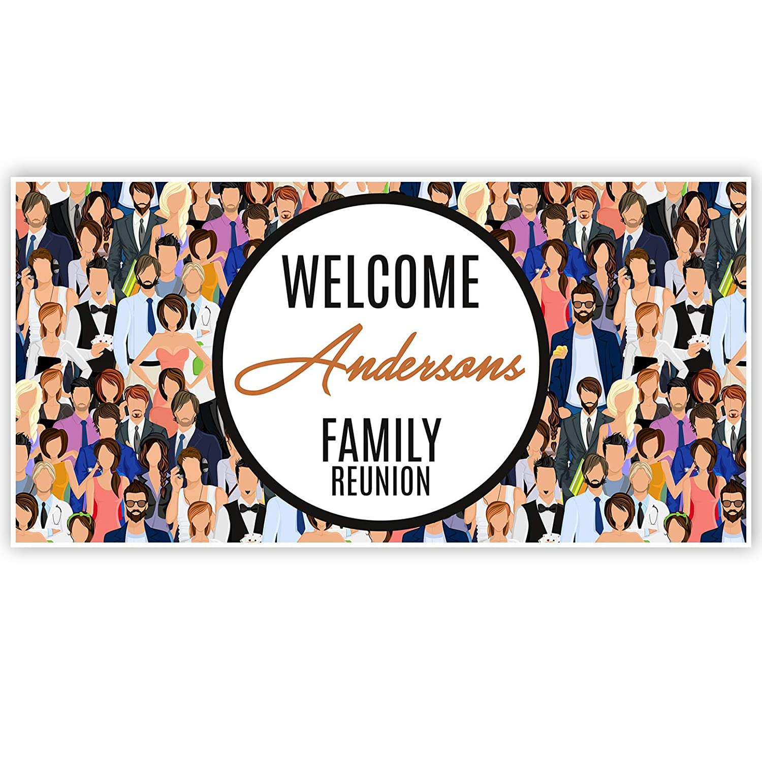 Large Family Reunion Personalized Banner