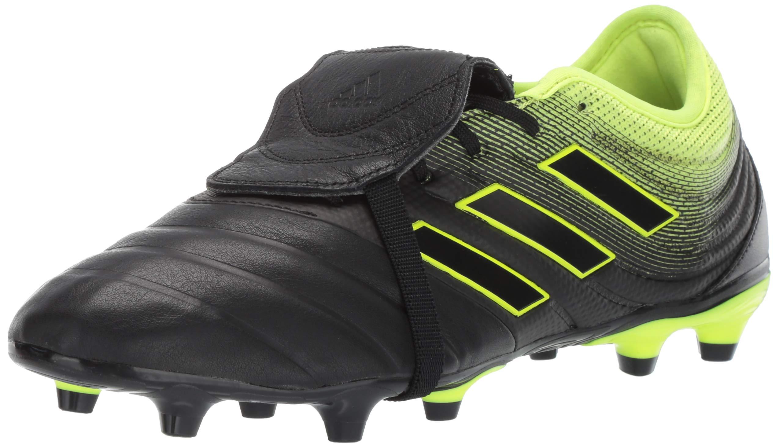 adidas Men's Copa Gloro 19.2 Firm Ground, Black/Solar Yellow, 6.5 M US