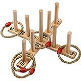 Jaques de Londres - Juego de Juguetes y Juegos de jardín de Quoits Make - Excellent - Juego de jardín New Nine Pin…