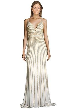 Jovani Rhinestone Embellished Jersey V-Neck Evening Gown Dress