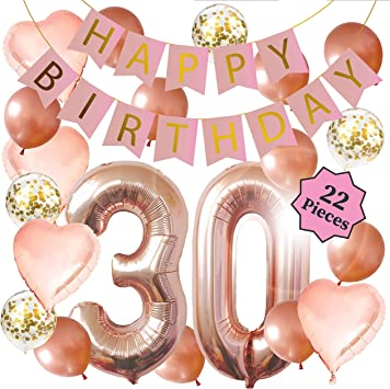 Amazon.com: Decoraciones de 30 cumpleaños – decoraciones de ...