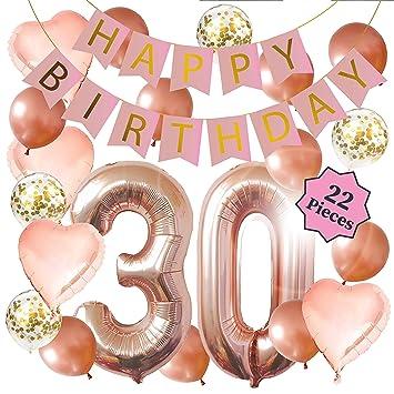 Amazon.com: Decoración para cumpleaños número 30 ...