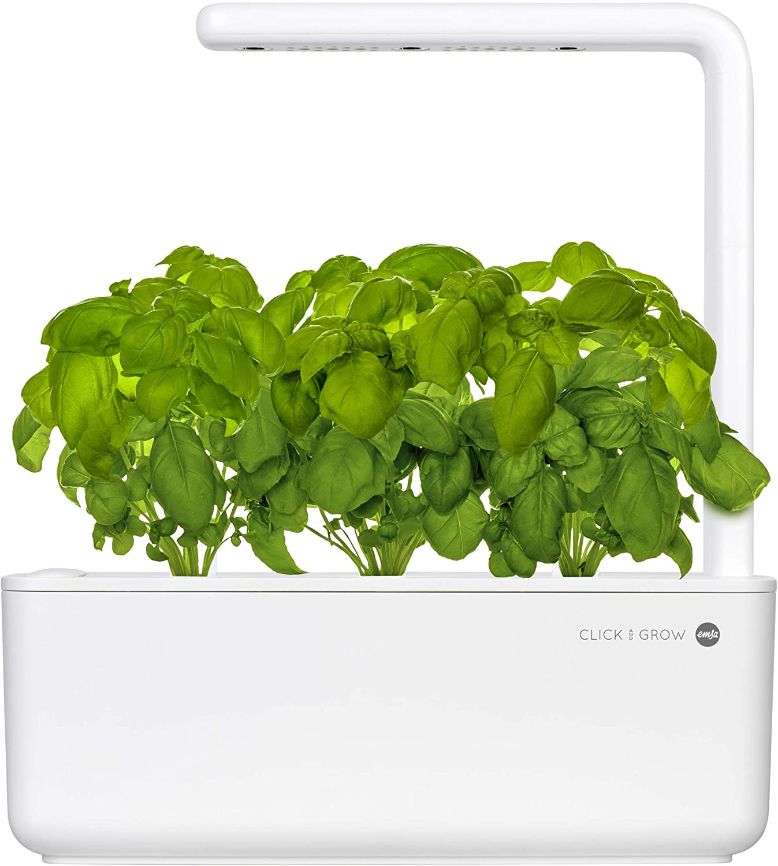 Emsa Click & Grow Smart Garden 3 unidades M52617, Semillas Smart Garden, huerto urbano, tierra inteligente, jardín hidropónico, resultados 40 días, Sistema automático iluminación LED, bajo consumo