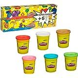 Play-Doh CULTURE CLUB 45945 Pâte Modeler 12 Pots 160g/6 Gratuits Blanc