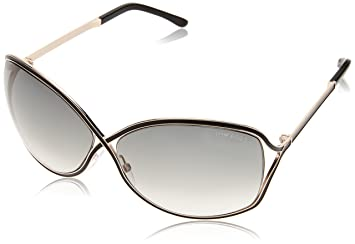 9613aac79c Amazon.com  Tom Ford Women s FT0179 01B Rickie Sunglasses