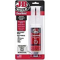 JB Weld TRA50112-TEX ClearWeld Quick Setting Epoxy 25ml, Clear, 25 ml