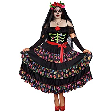 dreamgirl womens plus size lady of the dead multi