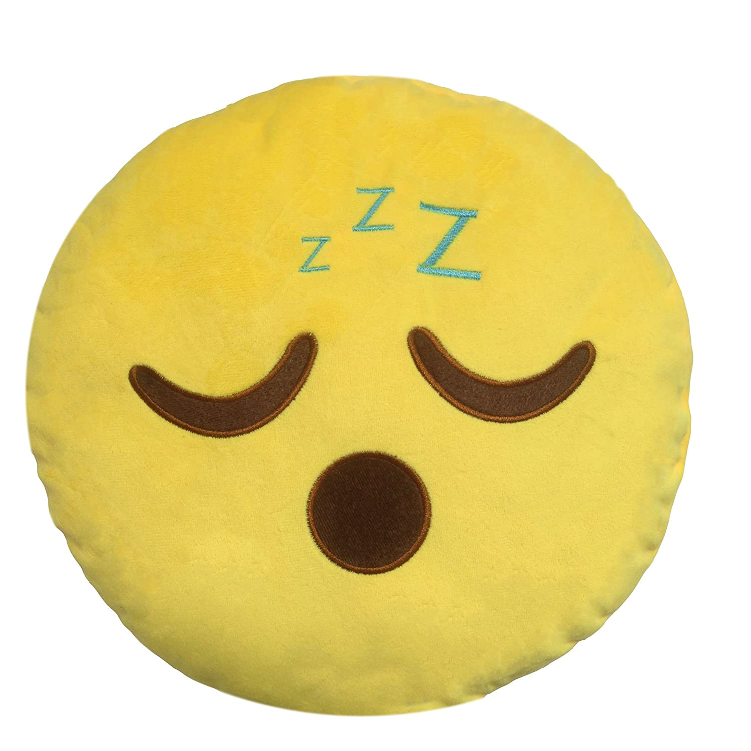 Amazon.com: LI&HI Emoji Cushion Smile Yellow Round Emoticon ...